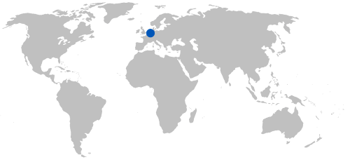 delfland (netherlands) on world map