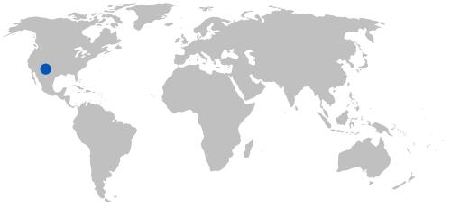 world map with arizona marked